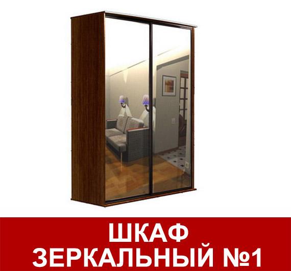 Шкаф-купе зеркальный №1